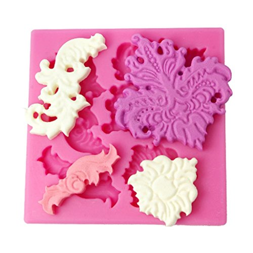 FOUR-C Silicone Fondant Mold Flower Cake Decorating Supplies Color Pink