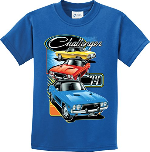 kids-dodge-challenger-trio-youth-t-shirt-royal-small
