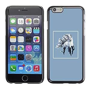 KLONGSHOP // Cubierta de piel con cierre a presión Shell trasero duro de goma Protección Caso - Unicornio - iPhone 6 //