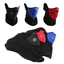 Bike Motorcycle Ski Snowboard Sport Neck Warmer Face Mask Winter Outdoor Protective Gear (Full Set - 3 colours)