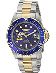 Invicta Mens Disney Limited Edition Automatic Stainless Steel Casual Watch, Color:Two Tone (Model: 22778)