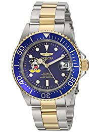 Invicta Men's 'Disney Limited Edition' Stainless Steel Automatic Watch, Color:Two Tone (Model: 22778)