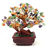 NYKKOLA Mix Gem Stone Money Amethyst Rose Citrine Carnelian Clear Quartz Feng Shui Plants & Flowers Artificial Trees Colorful