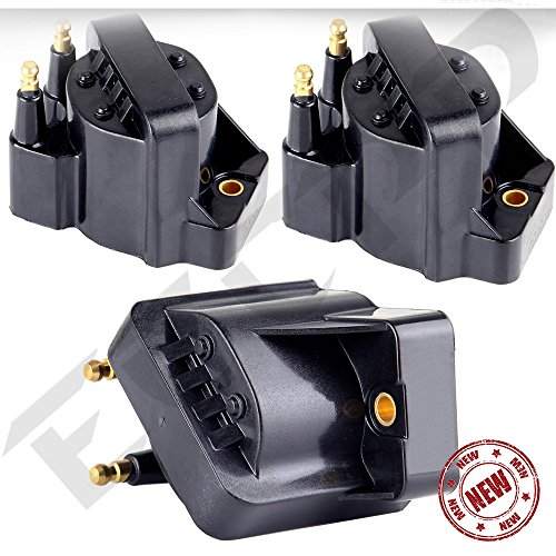 (ECCPP Pack of 3 Ultimate Performance Ignition Coil Ignition Spark Plug Coil Pack for Buick Chevy Cadillac GMC Pontiac - C849 DR39 5C1058 E530C D555 D545 D576 C1235 5C1058 E51 GN10123 GN10161 IC39)