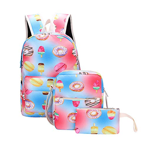Theshy pen Student Fashion B Bag Canvas Girl 3pcs School Bag crossbody Backpacks Pattern qvBrqH