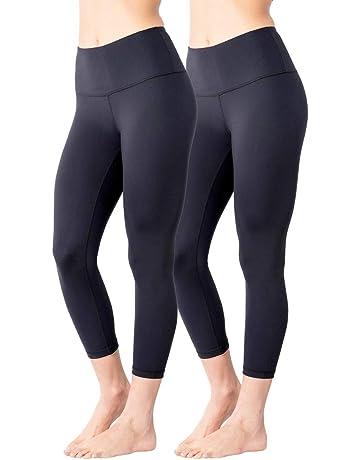 025b62f312 Yogalicious High Waist Ultra Soft Lightweight Capris - High Rise Yoga Pants