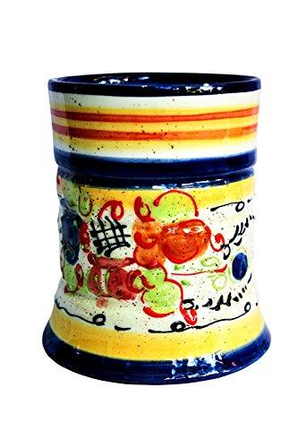Utensil Jar - Hand Painted in Spain - Splash! Design by Cactus Canyon Ceramics
