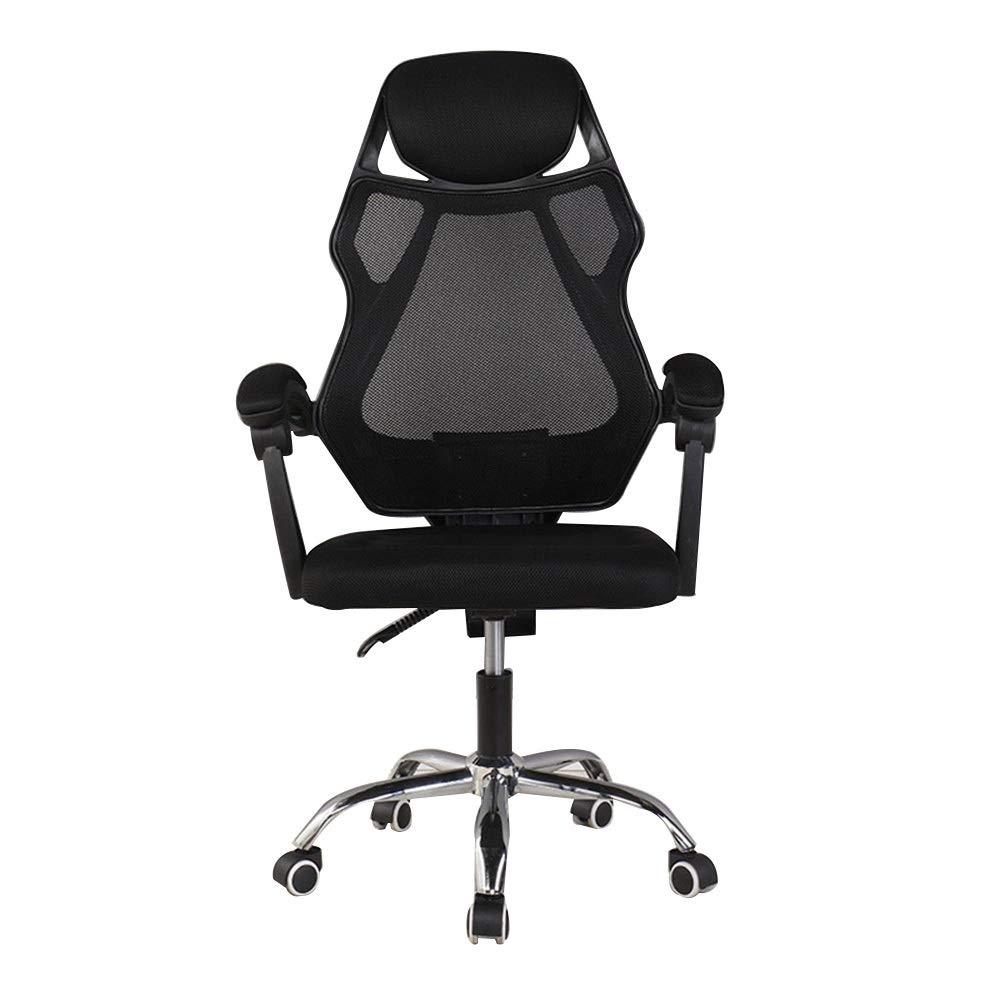 Schwarz Bseack Drehstuhl Sessel, 135 ° Verstellbarer, höhenverstellbarer, höhenverstellbarer Multifunktions-Rennsessel für Studentenwohnheim (Farbe   Schwarz)