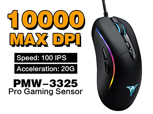 51jUkR4t AL - Talentech-Ember-High-Precision-Optical-Wired-Gaming-Mouse-Mice-for-PC-Mac-for-Pro-Gamer-Ergonomic-Design-Programmable-7-Buttons-PMW3325-Sensor-MMOMOBAFPS-MAX-10000-DPI-Black