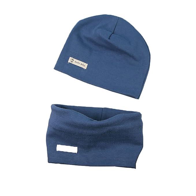 Boomly Autunno e Inverno Caldo Cute Tinta unita Morbido Cappello in Cotone  Berretto e Sciarpa Scaldacollo Sciarpa per Bambino  Amazon.it  Abbigliamento 16809bae97ad