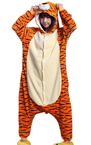 Urmycos Tiger Halloween Party Costume Kigurumi Cartoon Outfit Homewear S]()
