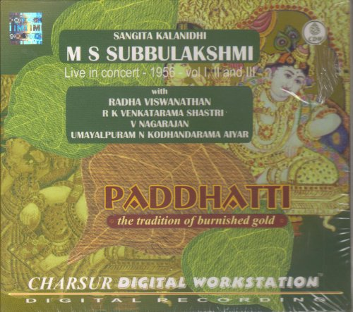 Paddhatti - The Tradition Of Burnished Gold - M S Subbulakshmi, Live In Concert 1956 Vol I, II And III (3-CD Pack) by Charsur