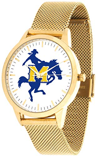 Mcneese State Watch - McNeese State Cowboys - Mesh Statement Watch - Gold Band