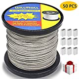 49-strand Cable Vinyl Coated 7x7 Stainless Steel Kit 30ft 275lb 1.2mm W//10 1.4mm