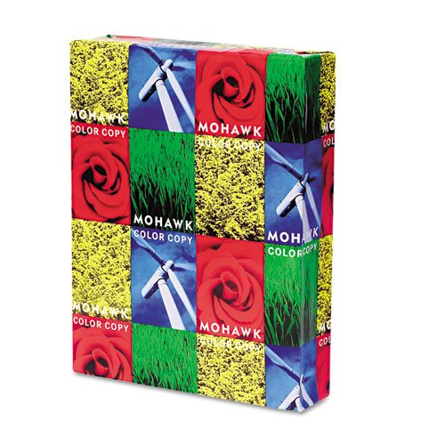 Mohawk Color Copy 98 Paper Smooth Finish 98-bright - 28 lb - 8.5 x 11 Inch - 500 Sheets Ream - Sold as 1 Ream - Bright White Shade (12-203)