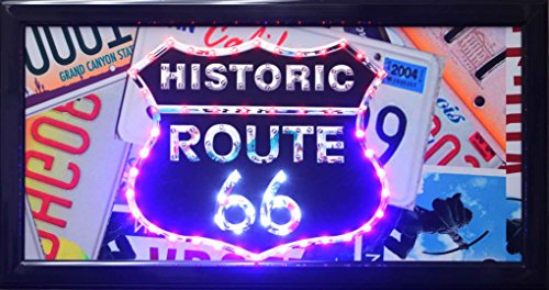 Millenium Art Historic Route 66 Framed Marquee LED Signs