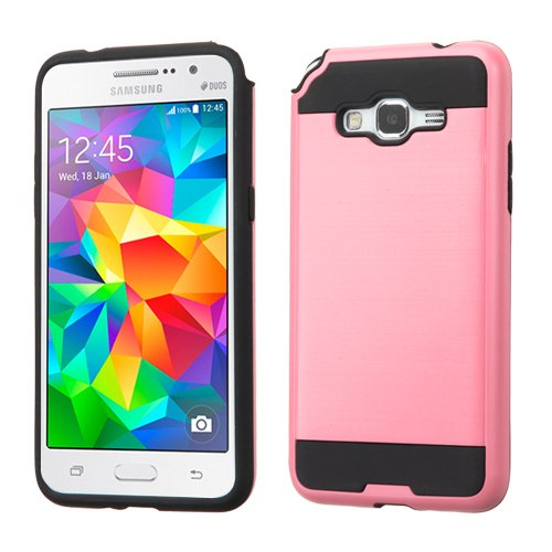 Price comparison product image Asmyna Cell Phone Case for Samsung G530 (Galaxy Grand Prime) - Retail Packaging - Black/Pink