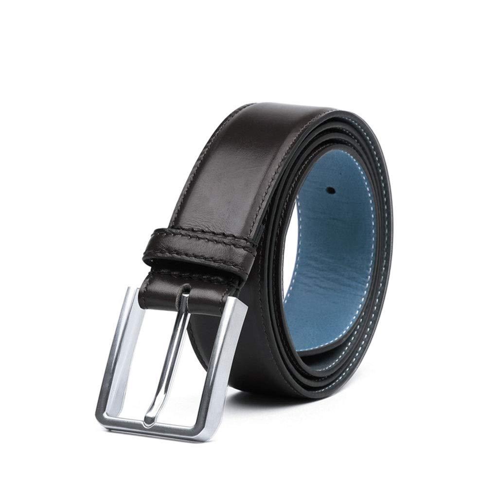Leisure Formal Leather Belt Belt Men,Alloy Pin Buckle Leather Casual Pants Belt