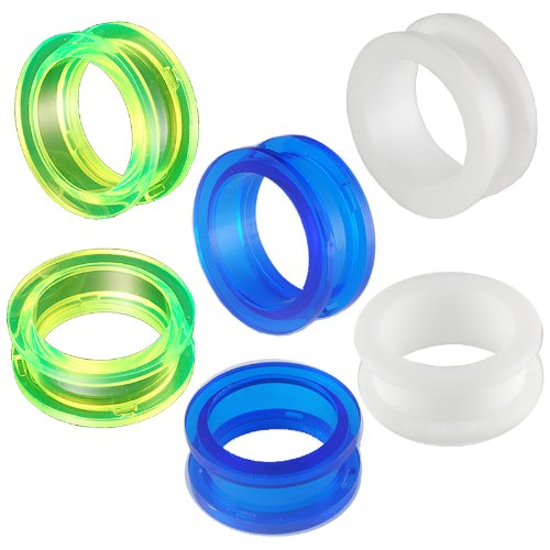 flesh tunnel gauges ears pretty 6PCS 15/16 24mm screw plugs acrylic stretching AHPQ Body piercing Jewelry