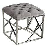 Cortesi Home Kora Contemporary Metal Cube, Grey