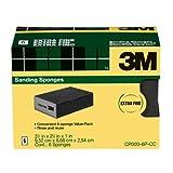 3M Sanding Sponge, Extra Fine Grit, 6-Pack