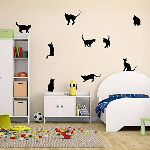 Amazon Com Ottatat Wall Stickers For Bedroom 2020 Cats Wall Stickers Art Decals Mural Wallpaper Decor Home Room Diy Decoration Easy To Stick Valentine S Day Home Gift For Boy Free Deliver Home Kitchen