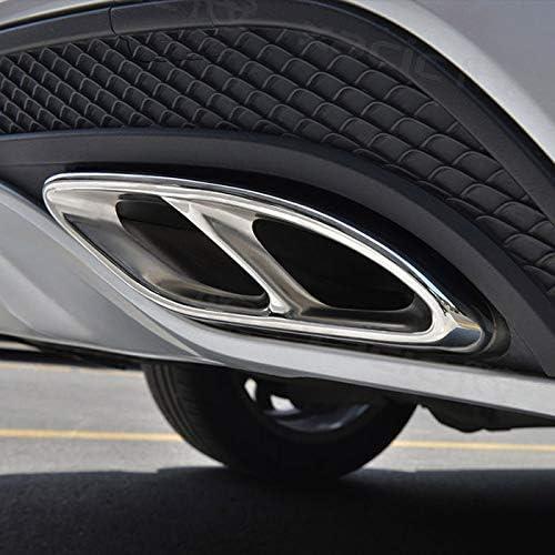 Silber Naliovker Top Qualit/ät F/ür Mercedes Benz Glc A B C E-Klasse W205 Coupe W213 W176 W246 2016-17 Auto Zubeh/ör Amg Auspuffblende Trim 304 Stahl