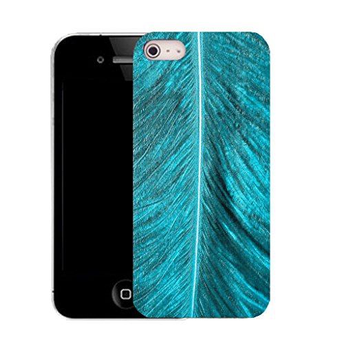 Mobile Case Mate IPhone 5 clip on Silicone Coque couverture case cover Pare-chocs + STYLET - blue palm leaf pattern (SILICON)