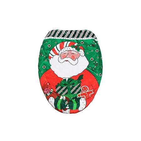 Malloom/® Natale Fodere DI Copri WC Bagno Decorazione