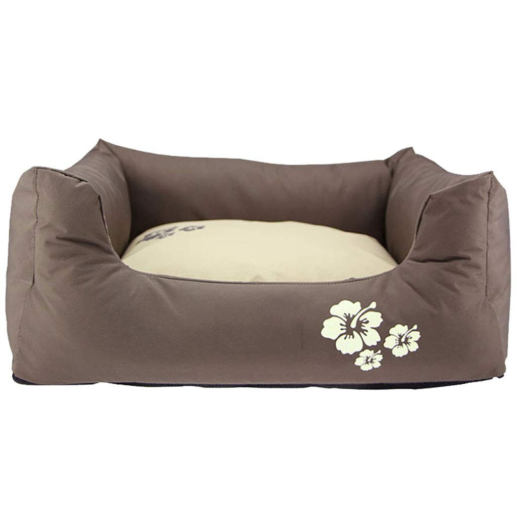 Brown D 107719cm Brown D 107719cm Kennel QIQIDEDIAN Pet Nest Small Medium Large Dog Dog Bed Cat Litter Removable And Washable Water Teddy Nest Winter (color   Brown, Size   D 107  71  9cm)