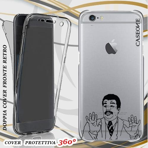 CUSTODIA COVER CASE MEME 1 PER IPHONE 6 FRONT BACK TRASPARENTE