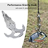 Grappling Hook - Gravity Hook Rock Climbing Equipment Climbing Rope Survival Carabiner Stainless Steel Climbing Harness