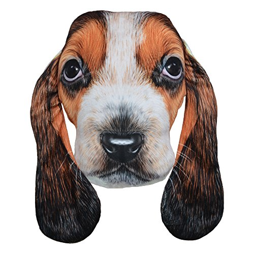 JW 3D Animal Pillows Lifelike Cushions Super Soft Plush Home Bed Car Chair Decoration for Kids Basset Hound (Basset Sofas)