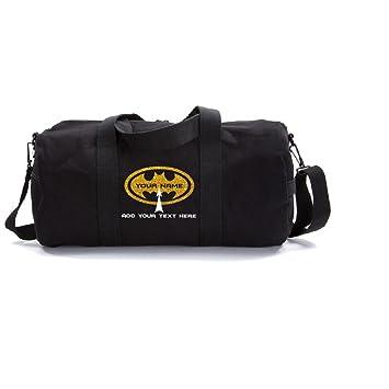 Amazon.com   Personalized Custom Batman Heavyweight Canvas Duffel Bag,  Black   Gold (Medium)   Sports Duffels becd4a0023