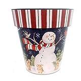 Home & Garden SNOWMAN IN SCARF 18″ ART PLANTER Polyresin Christmas Ap18009 Review