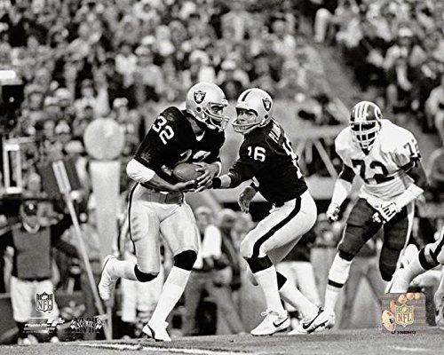 Los Angeles Raiders Marcus Allen and Jim Plunkett During Super Bowl XVIII 8x10 Photo, Picture