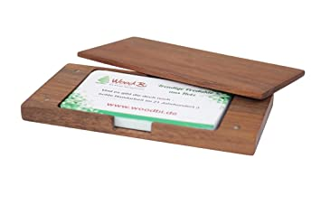 Woodbi Visitenkartenetui Für Den Schreibtisch Aus Holz