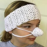 SALE! White Ear Warmer Nose Warmer Set by Aunt Marty