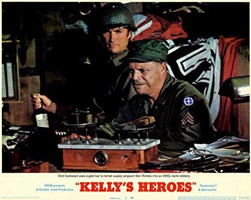 Kelly's Heroes Circular Movie (1970) Style B 11 x 14 Inches - 28cm x 36cm (Clint Eastwood)(Donald Sutherland)(Telly Savalas)(Gavin MacLeod)(Don Rickles)(Carroll O'Connor)(Stuart Margolin)