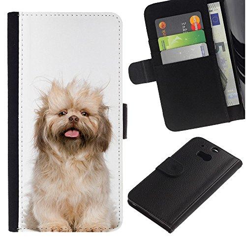 EuroCase - HTC One M8 - Norfolk terrier puppy glen of imaal dog - Cuero PU Delgado caso cubierta Shell Armor Funda Case Cover