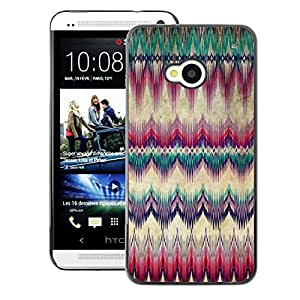A-type Arte & diseño plástico duro Fundas Cover Cubre Hard Case Cover para HTC One M7 (Carpet Feather Native American Culture)