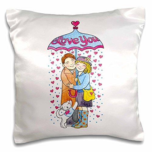 Couple Under Umbrella - 2