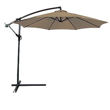 Amazoncom Odaof 10 ft Patio Umbrella Offset Hanging Umbrella