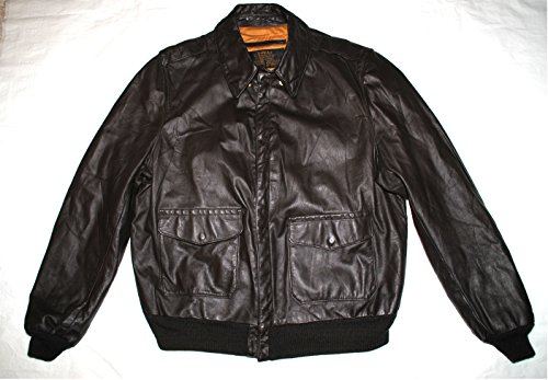 US Army Air Force Flyers Men's Leather Bomber Type A-2 Jacket - Size 46 Long