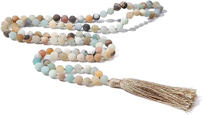 Self-Worth Mala Meditation Yoga Ready to Ship Yoga Necklace Mala Mala Necklace Beaded Mala