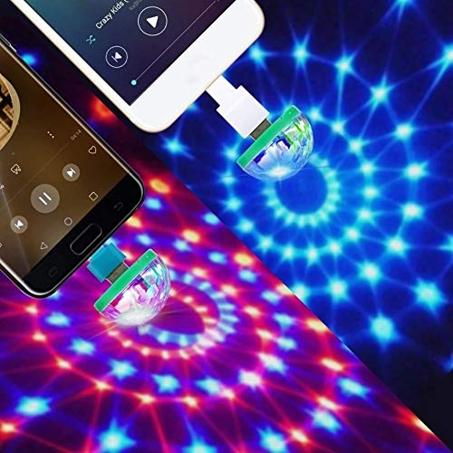 Mini usb - disco - licht, Tragbares heim - party licht, DC 5v usb - led - discokugel DJ licht - Partei dekoration - Beinhaltet alle Adapter (IOS, Android, Typ C)