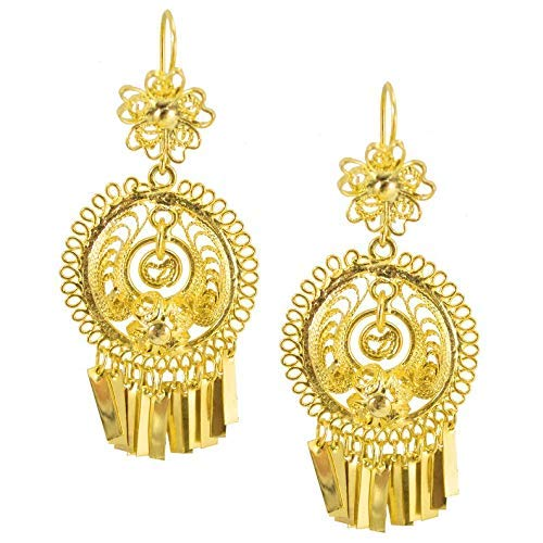 6bf5092ef 1 · Mexican Gold Bathed Filigree Artisan Earrings Handcrafted in Oaxaca,  Mexico