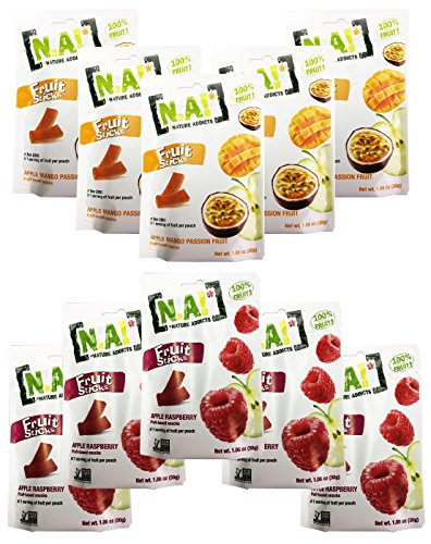 Nature Addicts Fruit Sticks Variety Pack of 10