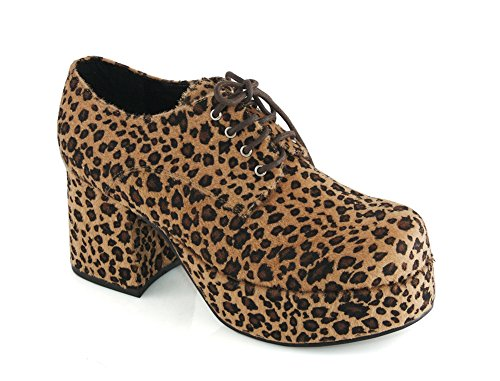 Ellie 312 Pimp Mens Leopard Oxfords Shoes, Size - M