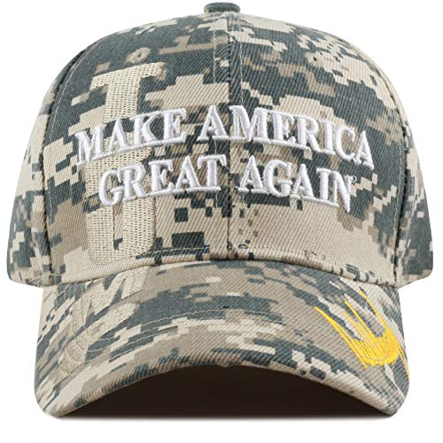 (The Hat Depot Exclusive 45th President Trump Make America Great Again 3D Cap (Digital Camo-Flag))